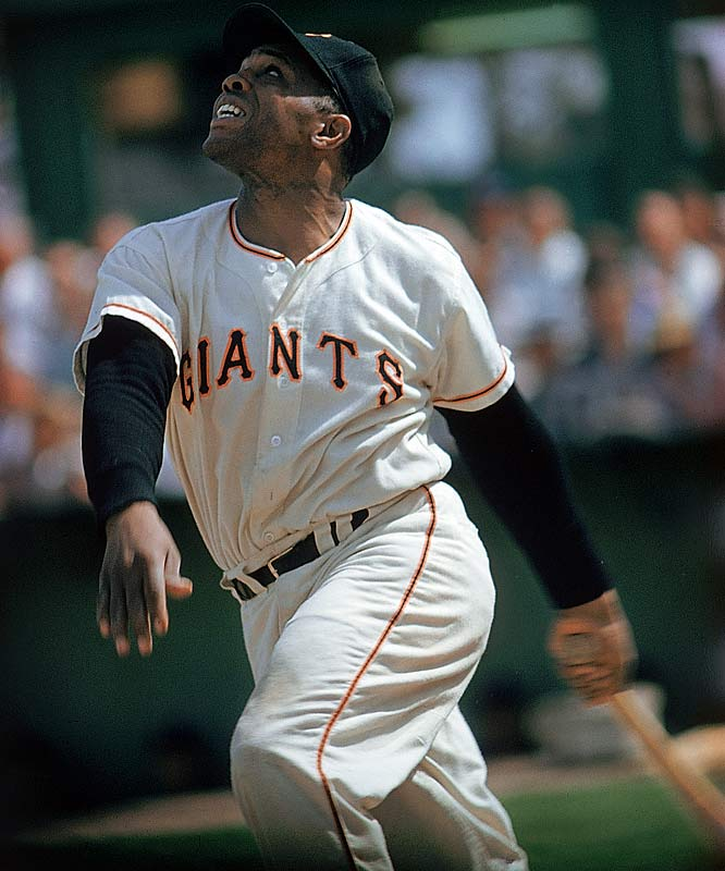 The Say Hey Kid led the NL in homers four times and posted 11 30-homer seasons. His 600th career homer came on September 22, 1969, against Mike Corkins of the San Diego Padres. The 24-time All-Star is perhaps still best remembered for his over-the-shoulder catch of a Vic Wertz fly ball in Game 1 of the 1954 World Series.