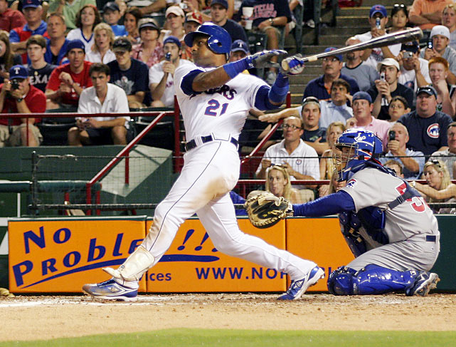 The only player with three 60-homer seasons, Sosa holds the record for most home runs over a five-year span (292 between 1998-2002). He connected for his 600th home run on June 20, 2007, against the Chicago Cubs, his former team. His career remains clouded by steroid suspicions and the discovery of a corked bat.