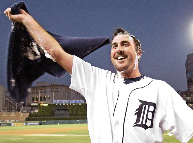Detroit ace Justin Verlander, 24, pitches a no-hitter in a 4-0 victory over Milwaukee.