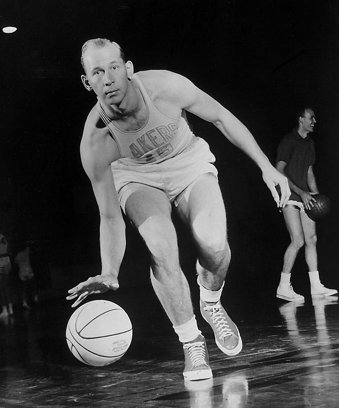 Admit it -- you don't know much about him. But, behind Mikan, this 6-7, 230-pound forward was the second greatest player in Minneapolis Lakers history, retiring just before the franchise moved west. Mikkelson, who averaged a point-rebound double-double four times, helped set a standard for Lakers excellence as a member of championship teams in 1950, '52, '53 and '54.