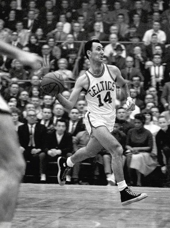 "SI's John Underwood wrote on the eve of the series, ''The Boston Celtics are an old team. Tired blood courses through their varicose veins and they are suspected of having fallen arches, bad backs, itchy scalp and gout."" Even so, the Celtics had enough to send 34-year-old Bob Cousy out a winner as the magician of a point guard claimed his sixth title."