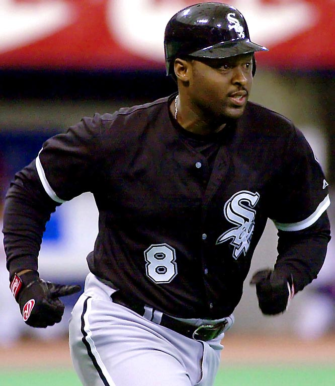 The White Sox picked up Johnson to improve their defense but also got a potent bat as C.J. hit .326 with 10 home runs. Chicago beat out Cleveland for its first AL Central title since 1994. DH Harold Baines also came along in the trade that saw Miguel Felix, Juan Figueroa, and Jason Larkman go to the Orioles.