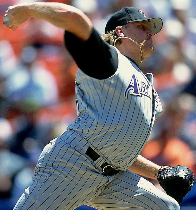 Schilling joined Randy Johnson atop the D'backs' rotation but struggled in the short term, going 5-6 in 2000. In 2001, however, Schilling went 22-6 with a 2.98 ERA and finished second to Johnson in Cy Young voting. Schilling went 4-0 in the postseason with three complete games to lead the D'backs to the championship. Of the players Arizona gave up, only right-hander Vicente Padilla proved to be useful.