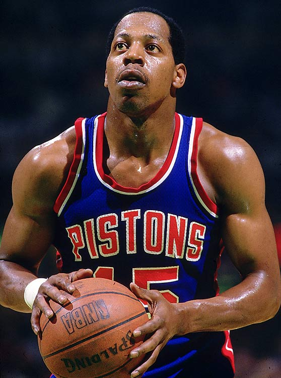 """When the Pistons needed to put the Blazers on ice in the '90 Finals, they turned to the Microwave. Vinnie Johnson responded by hitting a 15-foot jumper from the right side with 0.7 seconds left in Game 5, giving Detroit a 92-90 series-clinching victory and the second of back-to-back titles. """"I'm not going to say I knew the shot was going in,"""" Johnson later said. """"But it felt good."""""""
