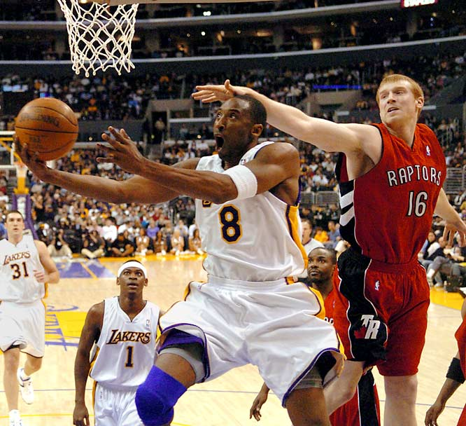 """Bryant scored 81 of the Lakers' 122 points in a victory against the Toronto Raptors on Jan. 22, 2006, the second-highest-scoring game in NBA history behind Wilt Chamberlain's 100-point performance in 1962.  Bryant shot 28-of-46 from the floor overall and scored 55 points in the second half. """"That was something to behold,"""" Phil Jackson said. """"It was another level. I've seen some remarkable games, but I've never seen one like that before."""""""
