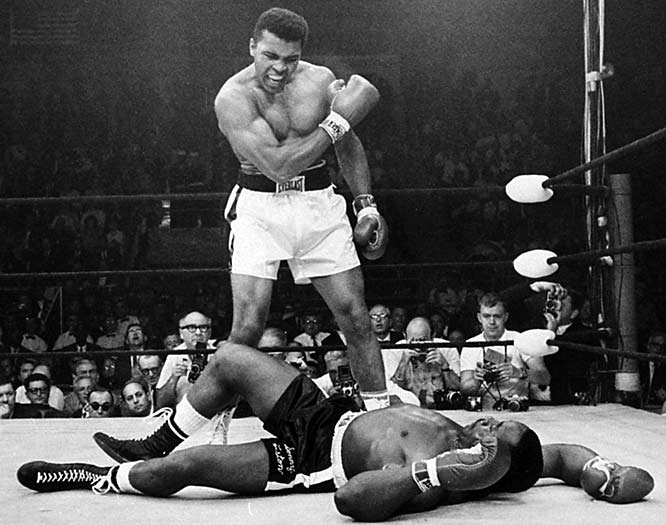Before the fight, Ali told reporters he had a dream that he knocked out Sonny in the first round:  ''I'm not the greatest; I'm the double greatest.  Not only do I knock `em out, I pick the round.'' Result:  Less than two minutes into the fight, Ali hit Liston with what became known as the ''phantom punch'' and Liston, who had hardly ever been knocked down, fell and lost the fight.