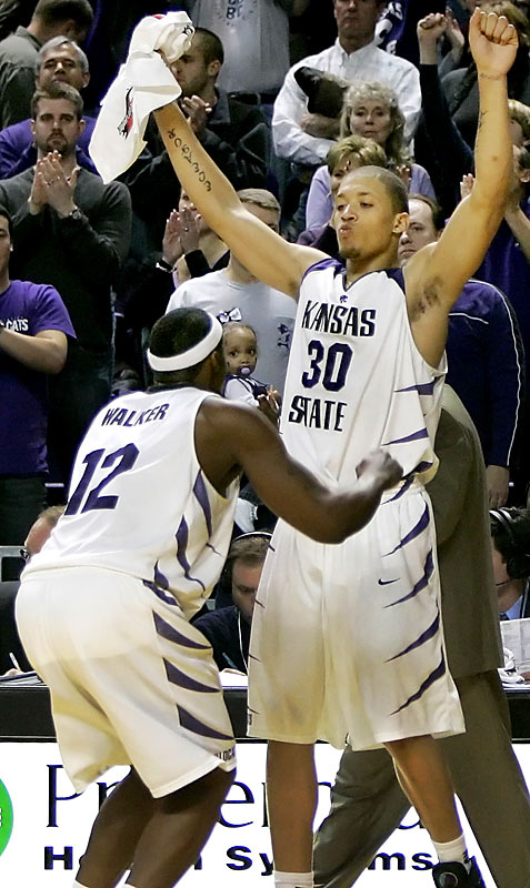 On the Jan. 30, 2008 matchup between No. 4 Kansas (20-0) at unranked Kansas State: ''I'm not scared to say it. I'm saying we'll beat them,'' said Bill Walker.''We're going to beat Kansas at home. We're going to beat them in their house. We're going to beat them in Africa. Wherever we play, we're going to beat them,'' said Michael Beasley.Results: Kansas State broke won 84-75. Beasley and Walker finished with 25 and 22 points, respectively.