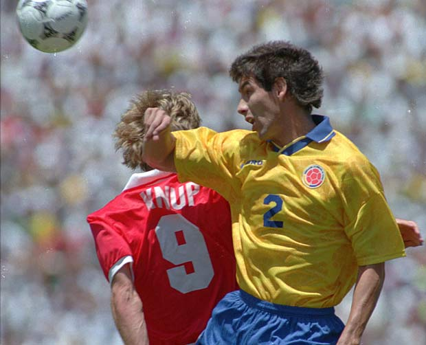 Colombian soccer player Andres Escobar is shot to death in Medellin. Ten days earlier, he had accidentally scored a goal against his own team in World Cup competition.