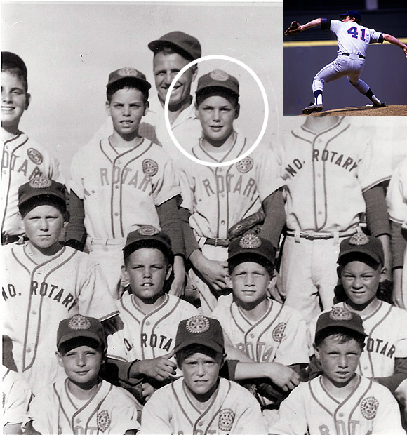 Seaver played in the Spartan Little League in Fresno, California. He retired from Major League Baseball with 311 wins, three Cy Young Awards, and a World Series Championship with the New York Mets. He was inducted into the Baseball Hall of Fame in 1992.
