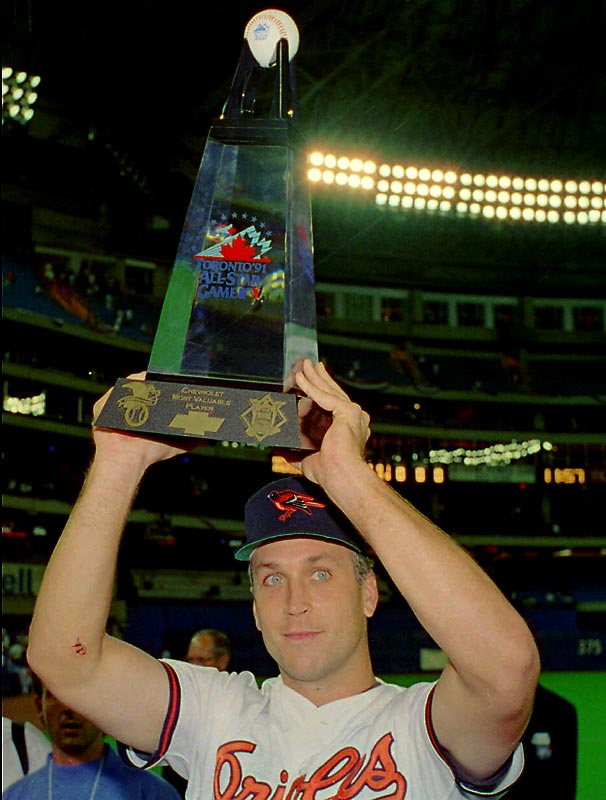 Cal Ripken Jr. blew away the field in 1991 with 12 home runs in the Skydome and then homered in the All-Star Game as well to take home MVP honors. He is one of only three players to win the Derby and homer in the Game, with Garret Anderson (2003) and Frank Thomas (1995) being the others.