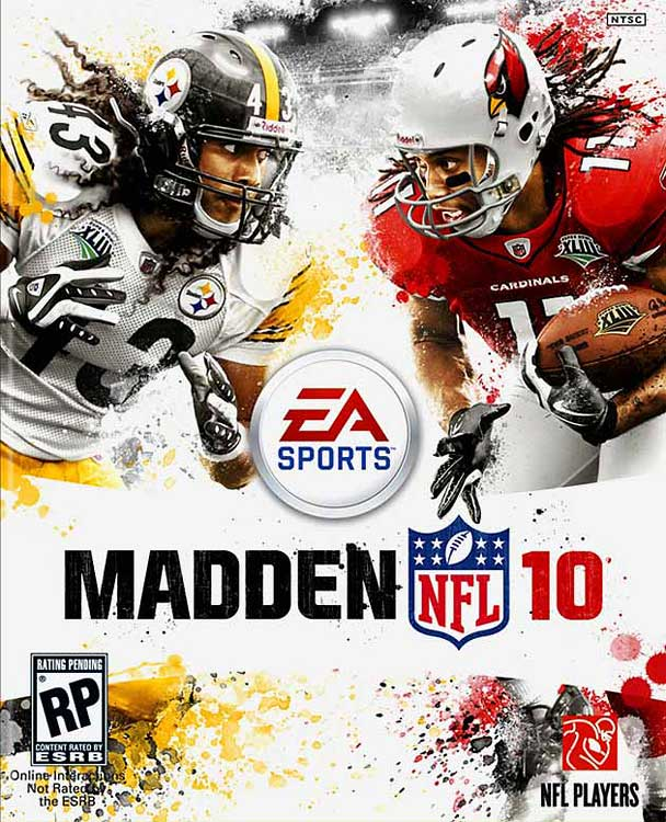 Super Bowl rivals, Larry Fitzgerald and Troy Polamalu, share the cover in 2010.