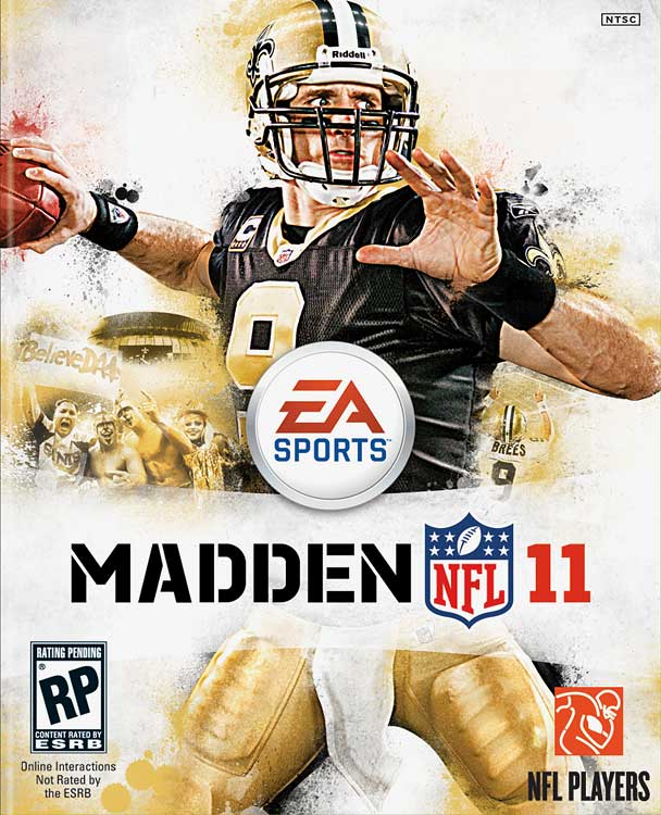 Not surprisingly, Super Bowl XLIV MVP Drew Brees is selected for the cover.