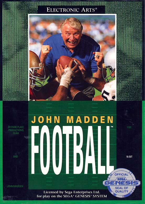 Madden goes 3D and is available on consoles such as the SNES and Sega Genesis.