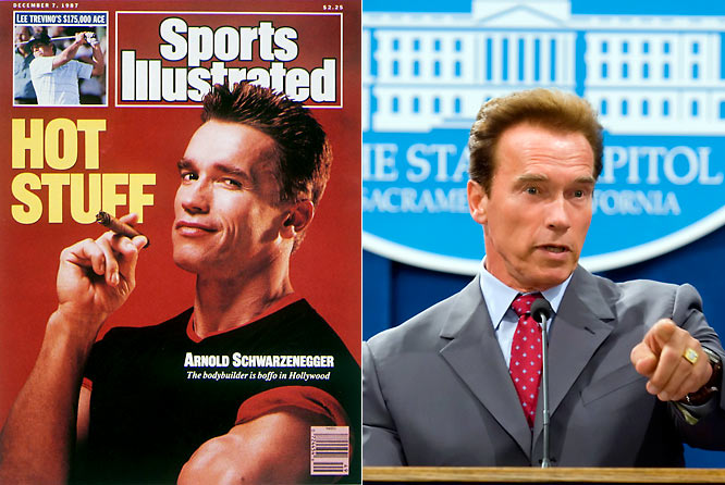 "He got our attention as a bodybuilder, proclaimed ""I'll be back"" in Terminator, and has proved to be an astute politician, winning the governorship of California in 2003."