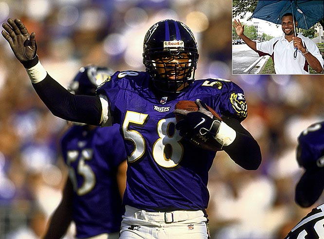 The former Raven holds the franchise record with 70 career sacks, and narrowly lost a campaign for a Florida House seat. After the election, however, Gov. Charlie Crist appointed him to the Florida Board of Education.