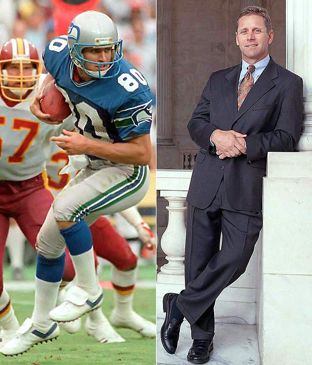 He has proven to be a winner on and off the field. Largent was the NFL's alltime leading receiver with the Seahawks (his records have since been broken by Jerry Rice) and then went on to a prosperous career in politics. He was elected to serve in Congress as a representative from Oklahoma in 1994 and narrowly was defeated in a bid to become the state's governor in 2002.