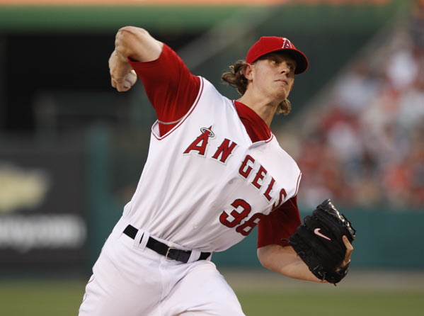 Blanking the Mariners for seven innings innings at Angel Stadium, Jared Weaver joins Whitey Ford (Yankees, 1950) to become only the second American League rookie to begin a career with nine straight victories as a starter.