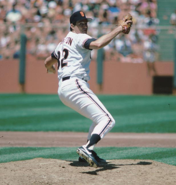 At Candlestick Park, Giants' southpaw Steve Carlton records career strikeout No. 4,000 against Eric Davis.