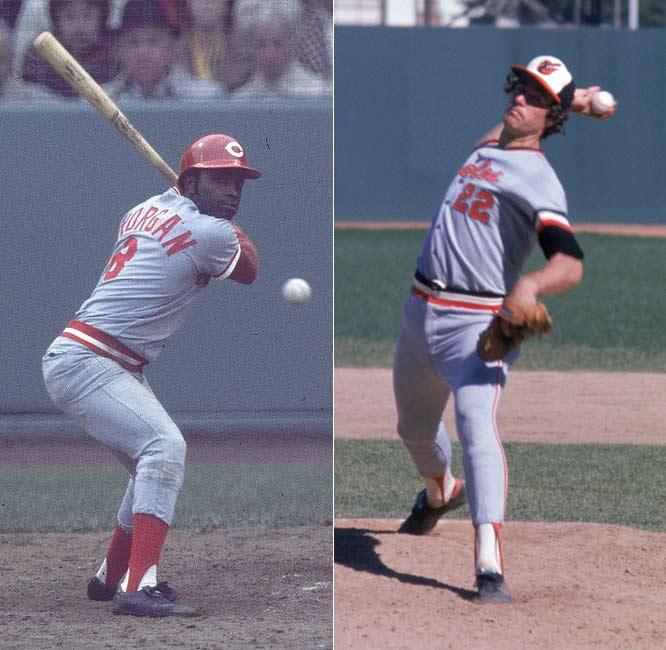 Jim Palmer and Joe Morgan are inducted into the Baseball Hall of Fame.