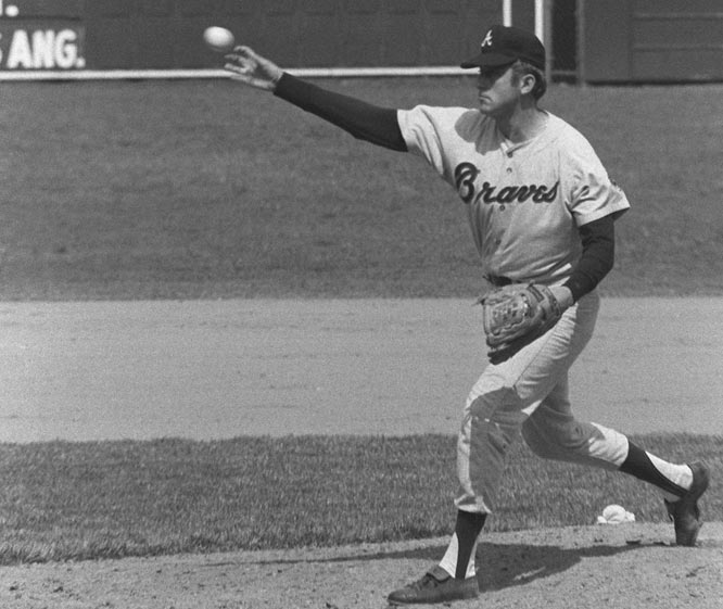 Phil Niekro goes the distance holding the Padres hitless in a 9-0 rout at home. It's first no-hitter thrown by a Braves hurler since the team shifted to Atlanta in 1966.