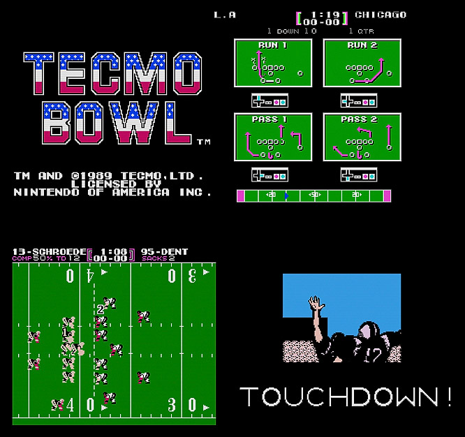 Tecmo Bowl -- and it's equally beloved sequel Tecmo Super Bowl (1990) -- boasted an NFLPA license, enabling users to take control of stars like Randall Cunningham, Walter Payton and Christian Okoye.