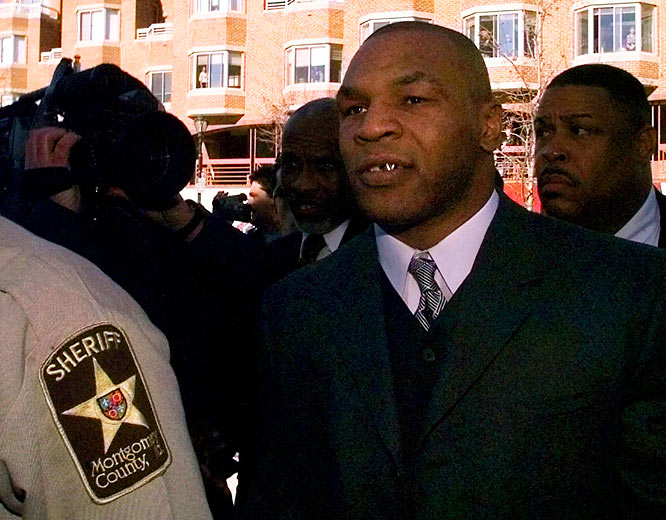 Mike Tyson is indicted in an Indianapolis hotel room.