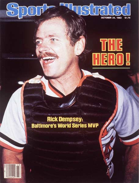 Led by Rick Dempsey and Eddie Murray, the Orioles win their fourth straight contest against the Phillies and take the World Series in five games.