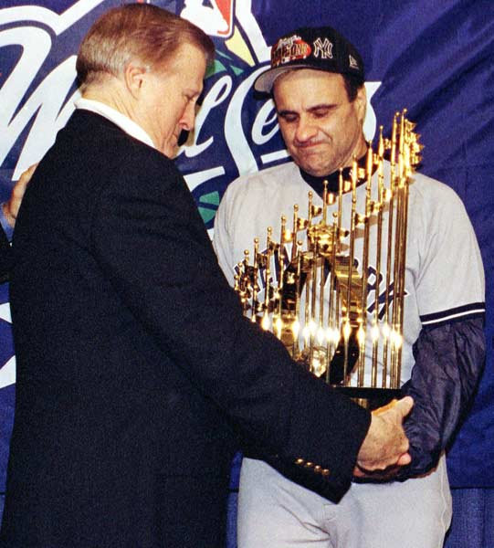 Defeating the Padres, 3-0, in Game 4, the Yankees sweep the Padres to win their 24th World Series championship. It is the 125th victory for the Bronx Bombers this season.