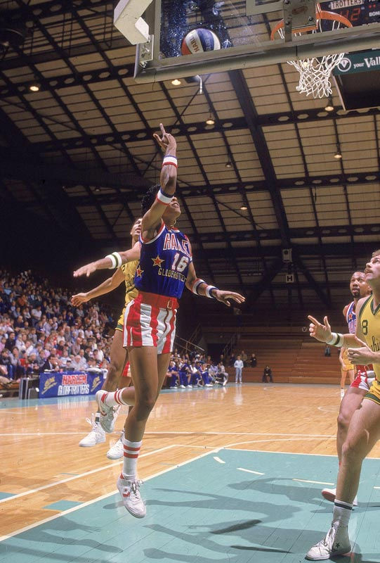 Lynette Woodard is chosen as the first woman to play for the Harlem Globetrotters.