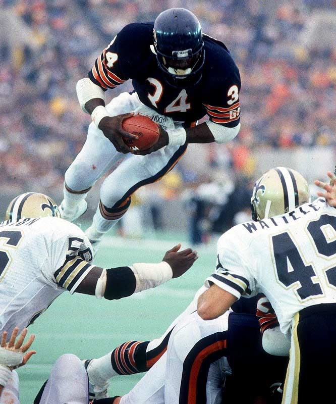 Chicago running back Walter Payton passes Jim Brown (12,312 yards) as the all-time rushing leader on a 6-yard run in third quarter of the Bears' 20-7 victory over New Orleans. Payton finishes the game with 154 yards, his record-setting 59th career 100-yard game.