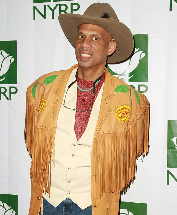 Kareem Abdul-Jabbar (pictured here at a Halloween party earlier this year) passes Oscar Robertson to become the NBA's second all-time leading scorer behind Wilt Chamberlain.
