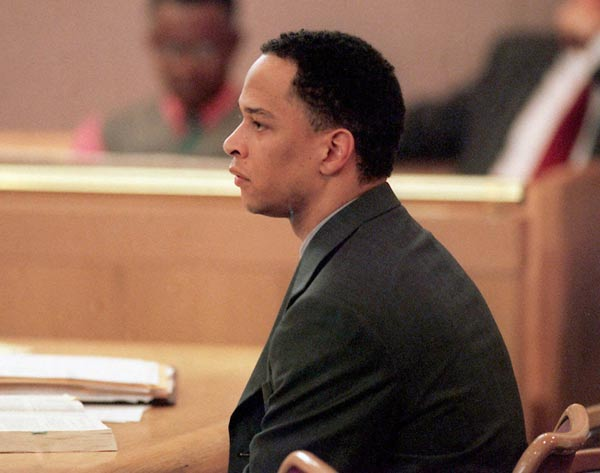 Former Panthers WR Rae Carruth is sentenced to a minimum of 18 years, 11 months in prison for his role in the 1999 shooting death of his pregnant girlfriend, Cherica Adams. Adams died a month later from her wounds. The baby survived and lives with the victim's mother.