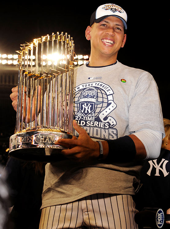 After missing the first month of the season with a hip injury, Rodriguez returned and finished with 30 home runs and 100 RBIs, his 12th straight season reaching those milestones. He was even better in the postseason, delivering key hits in all three rounds. In 15 postseason games, he batted .365 with six home runs and a Yankees franchise record 18 RBIs as the Yankees won their 27th world championship.
