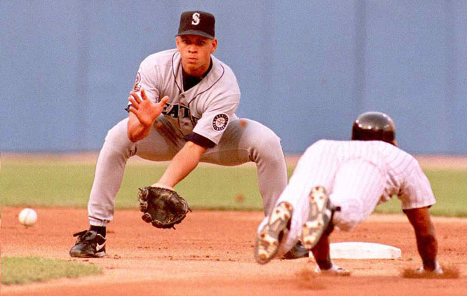 Rodriguez split 1995 between Seattle and the franchise's AAA club -- the Tacoma Rainiers. He hit his first major league home run on June 12 against Kansas City's Tom Gordon. He arrived in the big leagues for good in August, just in time for Seattle's postseason run.