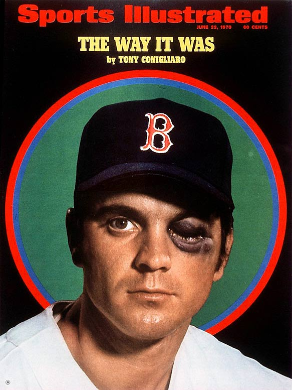 At 45, former Red Sox fan favorite Tony Conigliaro dies of pneumonia and kidney failure. His 32 home runs in 1965 at the age of 20, made the Revere, Mass., native the youngest player ever to lead the American League in home runs.