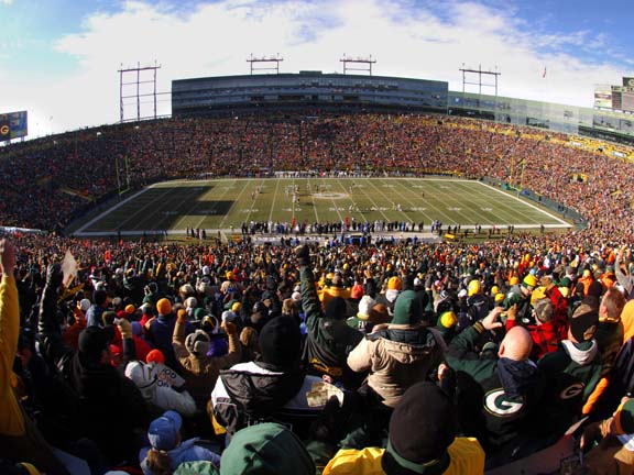 It is amazing that a small town like Green Bay has been able to support a pro sports team for so long.  But what is even more incredible is the support of the fans: there is a 30-year waiting list for season tickets.  Cheeseheads cheer on the Packers in any weather, snow included.  Lambeau Field is not just an attraction, but is truly the heart and soul of Green Bay.