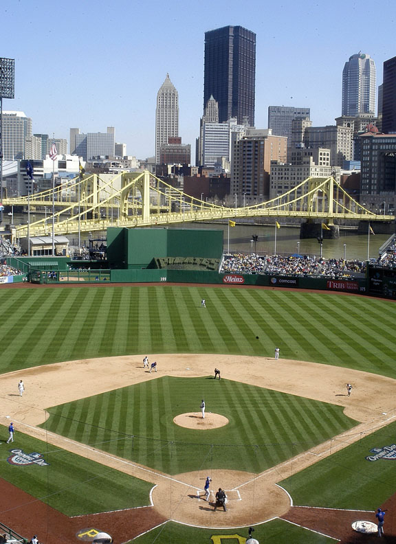 The Pittsburgh Pirates' stadium is the gem no one knows about.  With a capacity of only 38,000, almost every fan is close to the action.  The statues of Roberto Clemente and Willie Stargell that greet fans at the entrance give the stadium a historic feel.  Getting there is even fun.  You can drive, of course, but you can also take a boat or walk across the Roberto Clemente bridge.