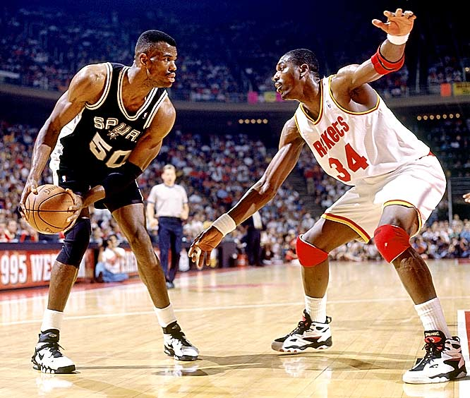 For all his individual excellence, Robinson didn't reach the NBA Finals in any of his first nine seasons. That included the 1994-95 season, when he won MVP honors but was outplayed by Hakeem Olajuwon in the Western Conference finals.