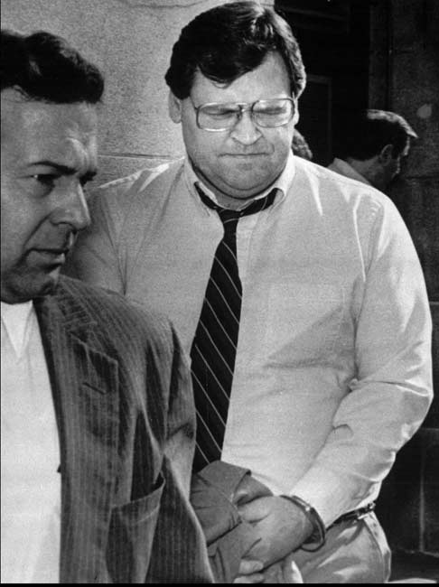 Former Cy Young award winner Denny McLain is convicted of racketeering and sentenced to 25 years in prison.