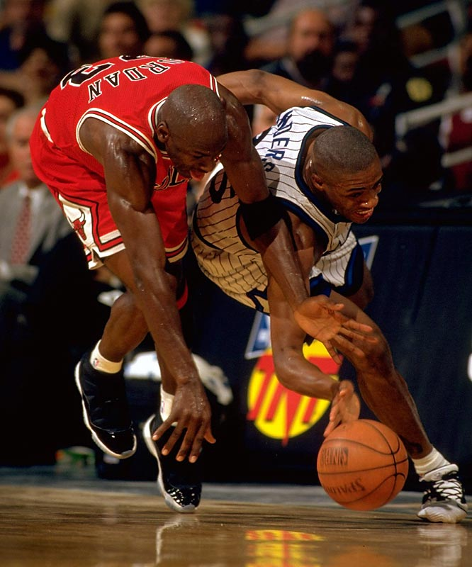Jordan's comeback season ended with a second-round playoff defeat to Orlando, perhaps remembered most for Jordan's miscues down the stretch in Game 1, which included a steal by Nick Anderson when the Bulls were nursing a one-point lead. This marked the first time since 1990 that a Jordan-led Bulls team lost a postseason series.