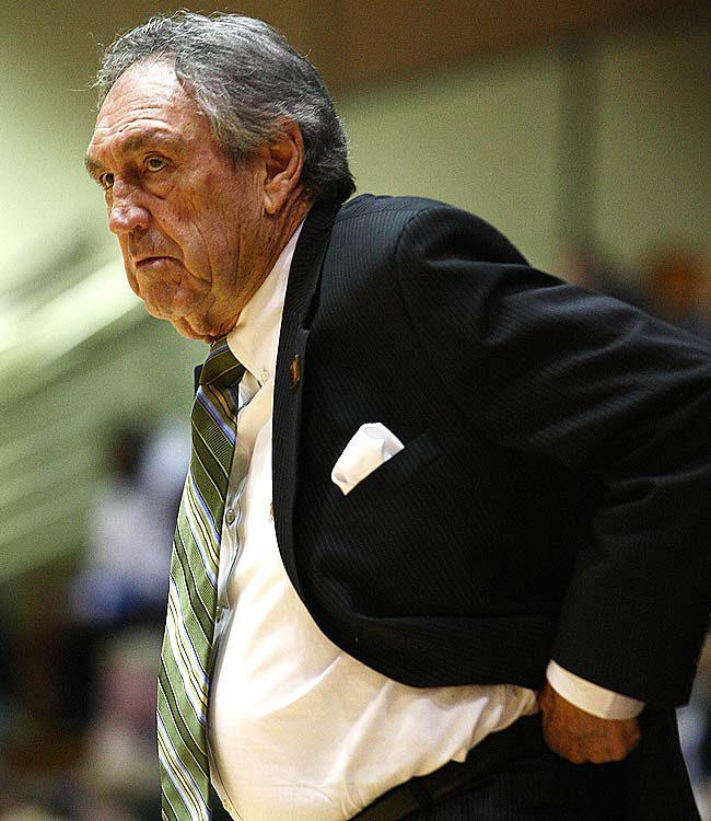 After Jessie Evans took a leave of absence in 2007, the University of San Francisco tapped legendary coach Eddie Sutton to take over for the remainder of the season.  It was speculated he was only there to get into the 800 win club -- a mark he was two victories away from when he went to USF.