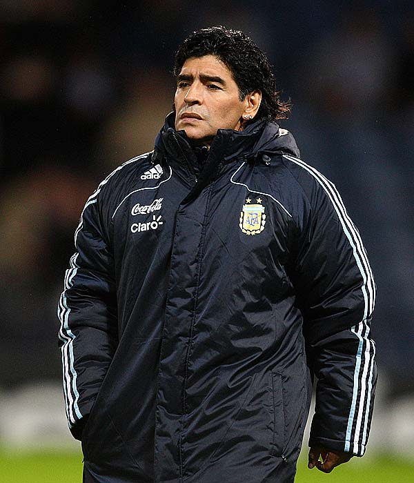 A national hero in Argentina during his playing days, Maradona publicly battled obesity and drug and alcohol addictions after he left the game.  His takeover of the national team in 2008 was surprising to critics skeptical if he was healthy enough to guide the team.