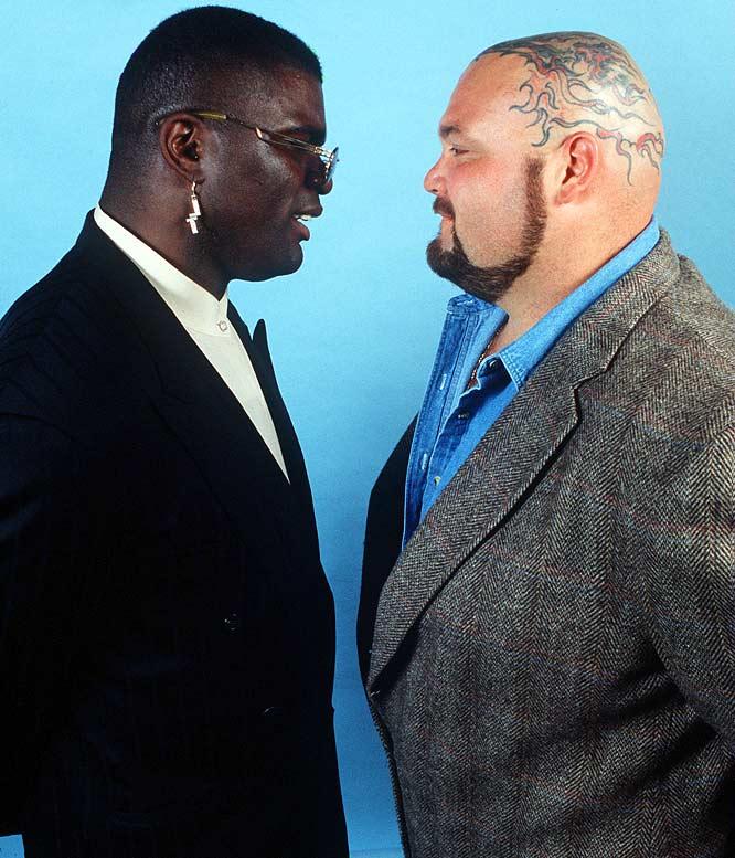 At Wrestlemania XI, Lawrence Taylor defeats Bam Bam Bigelow.