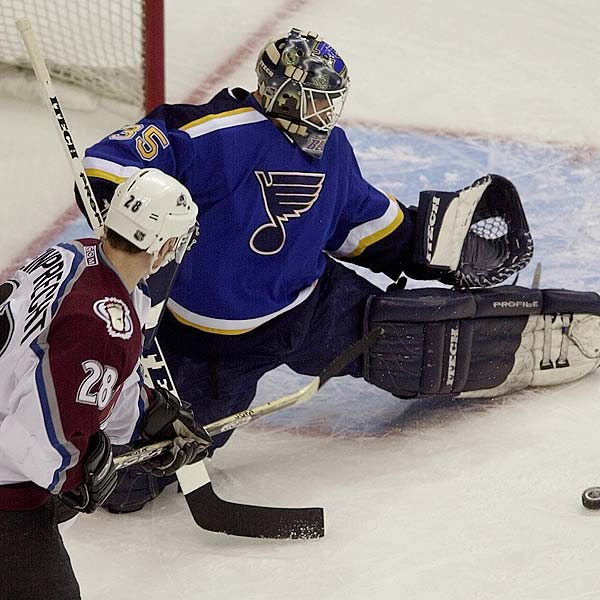 St. Louis Blue goalie Brent Johnson became the first NHL goalie to record his first three wins in the playoffs by shutout. He was only the fourth goalie to record three straight NHL playoff shutouts.