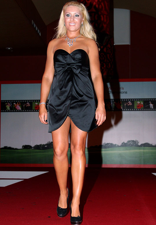 The pro golfer was fired by the Donald on The Celebrity Apprentice after she picked jewels that did not sell well at an auction.