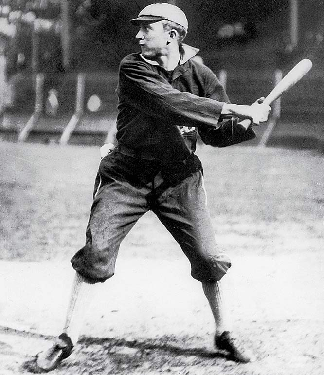 As talented as he was coarse, Ty Cobb hit an all-time record .367 during his career and is the only player besides Pete Rose to tally over 4,000 hits. Cobb had a 40-game hit streak in 1911 while locked in a batting race with Shoeless Joe Jackson.  He eventually won, hitting a league-leading .420, while leading the AL in numerous other categories as well.