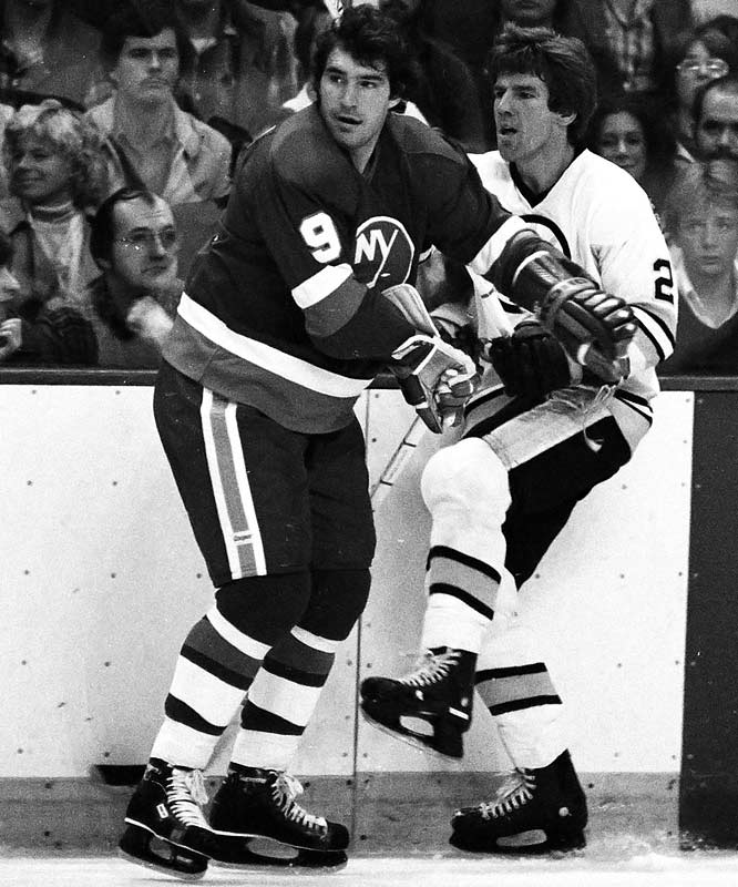 Nicknamed Jethro (he resembled the Beverly Hillbillies character), Gillies brought size, toughness and scoring to the Islanders' famed Trio Grande line of fellow Hall of Famers Mike Bossy and Bryan Trottier. An imposing power forward who scored 30-or-more goals six times, Jethro's beat-downs of Boston roughneck Terry O'Reilly in the 1980 playoffs were a key to the Isles winning the first of four straight Cups.