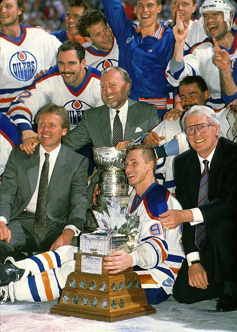 The Edmonton Oilers win their fourth NHL Stanley Cup in five seasons, sweeping the series 4-0 against the Boston Bruins.