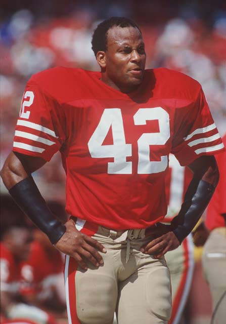 Doug Atkins (1930)  Sonny Liston (1932) Mike D'Antoni (1951) Bill Cowher (1957) Lovie Smith (1958) Ronnie Lott (1959, pictured) Bobby Labonte (1964) Chris Sanders (1972) Ray Whitney (1972)Korey Stringer (1974) John Maine (1981) Adrian Gonzalez (1982) Felix Jones (1987)