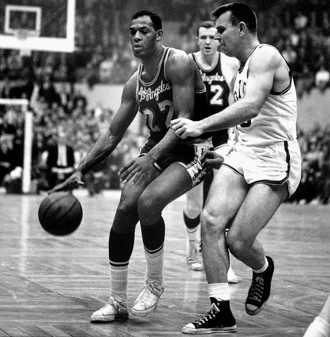 The first Boston-L.A. Finals was a classic, thanks to Jerry West's game-winning steal and layup in Game 3, Elgin Baylor's 61-point eruption in Game 5 and the Celtics' 110-107 overtime victory in Game 7.